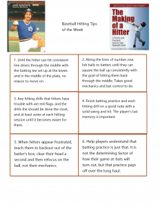 Free weekly baseball hitting tips