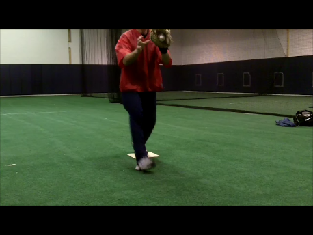 how to stop baseball player moving back foot