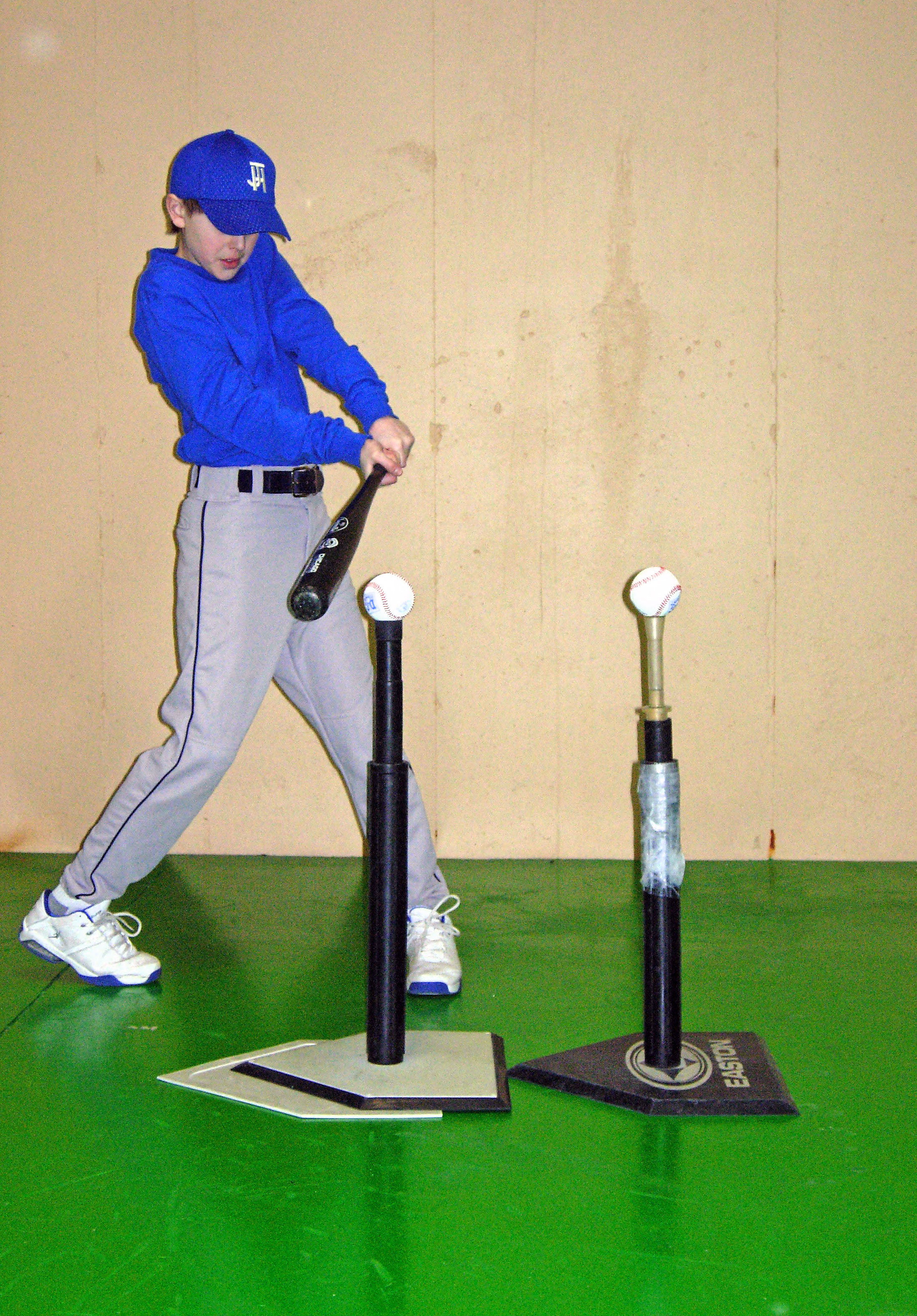 Image result for Pictures of baseball double tee drills