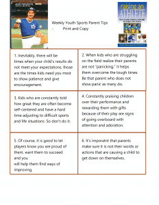 Sports Parent Tips that Work