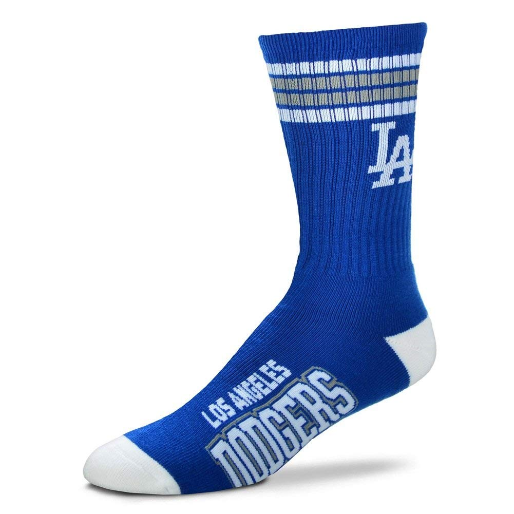 Los Angeles Dodgers 4 Stripe Crew Socks