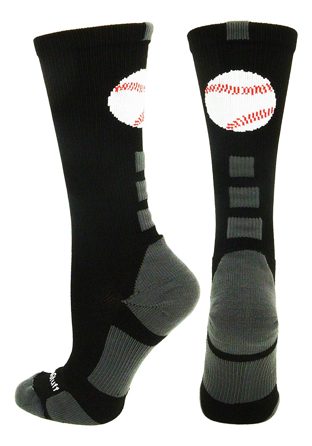 MadSportsStuff Baseball Logo Athletic Crew Socks